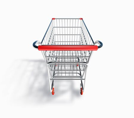 grocery cart: 3D Shopping Cart Side View