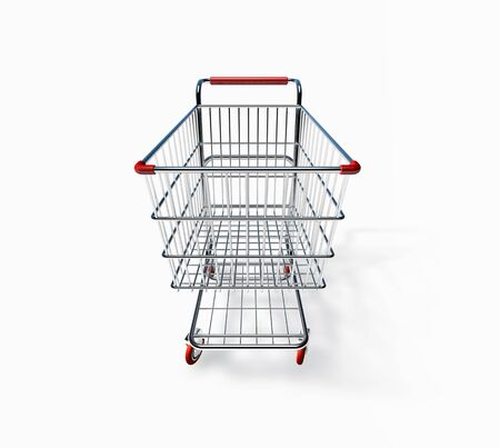 3D Shopping Cart Side View