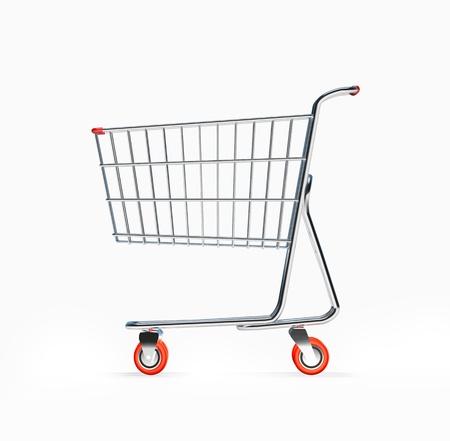 3D Shopping Cart Side View
