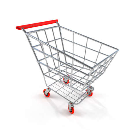 e retailers: 3D Shopping Cart Side View