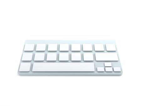 3D Computer Keyboard Device Different Angle Rendering Stock Photo - 17073931