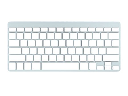 3D Computer Keyboard Device Different Angle Rendering Stock Photo - 17073937