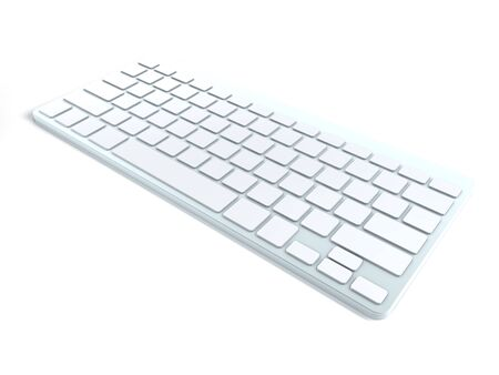 3D Computer Keyboard Device Different Angle Rendering Stock Photo - 17073936