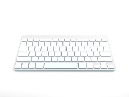 3D Computer Keyboard Device Different Angle Rendering Stock Photo - 17073934