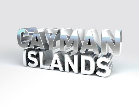 cayman: 3D Illustration of Country Names Render isolated on White Background Stock Photo