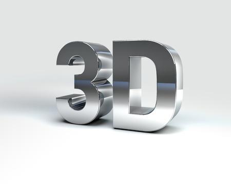 Illustration 3D de m�tal texte rend isol� sur fond blanc