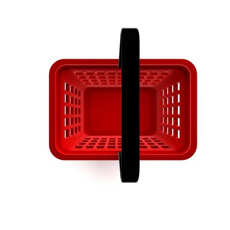 3D Illustration of Empty Shopping Basket Render isolated on White Background Stock Illustration - 17920347