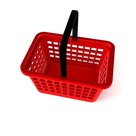 3D Illustration of Empty Shopping Basket Render isolated on White Background Stock Illustration - 17920354
