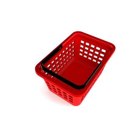 3D Illustration of Empty Shopping Basket Render isolated on White Background Stock Illustration - 17920346