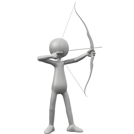 3d guy: 3D Guy Archery - Full Body