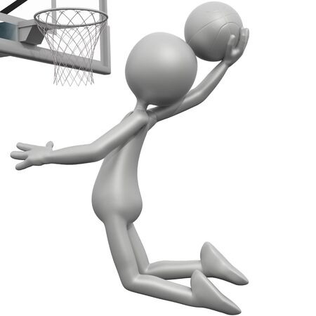 3d guy: 3D Guy Basketball - Slam Dunk