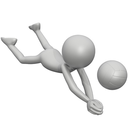 3d guy: 3D Guy Volleyball