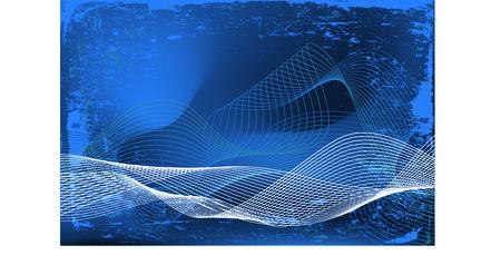 抽象的なグラデーション背景上の白い波形流れ