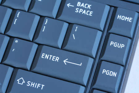 Laptop Keyboard blauw getinte Stockfoto - 42544514
