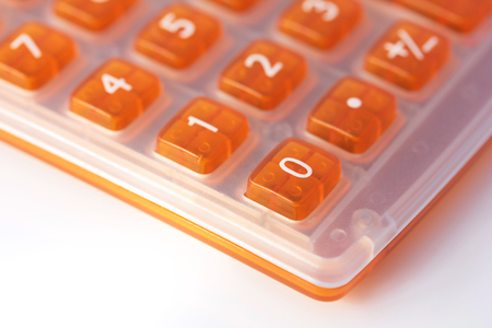 Closeup of an Orange Calculator
