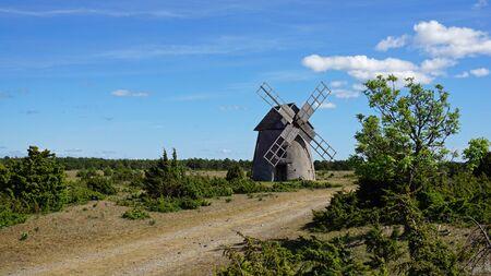 Windmill on the Swedish island of Gotland
