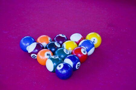 Snooker balls Banque d'images
