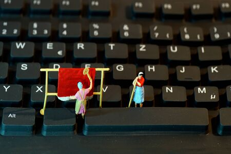 Keyboard, Miniature 版權商用圖片