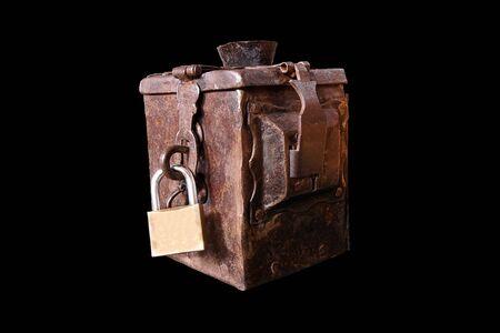 Old iron donation box 版權商用圖片