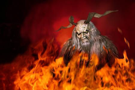 Satan surrounded by fire Фото со стока - 93513319