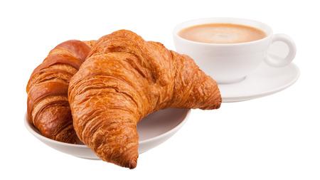 Croissant avec café