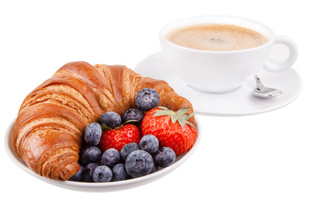 buttery: Croissant with coffee