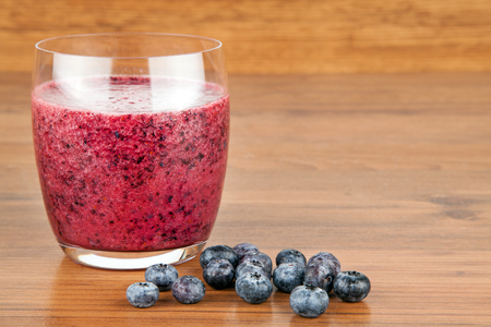 shaken: Smoothie red Stock Photo