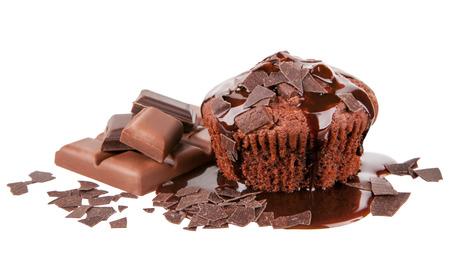 chocolaty: Chocolate Muffin Stock Photo