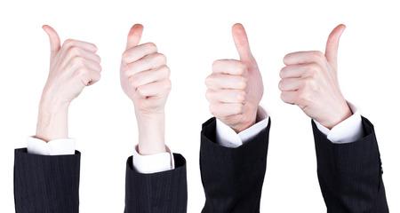ビジネスの男性の親指 写真素材