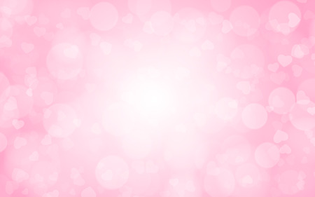 shiny hearts: pink abstract blurred background Stock Photo