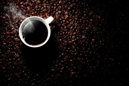 김이 커피 컵 스톡 콘텐츠