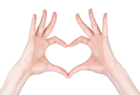 hands forming a heart Imagens - 39032767