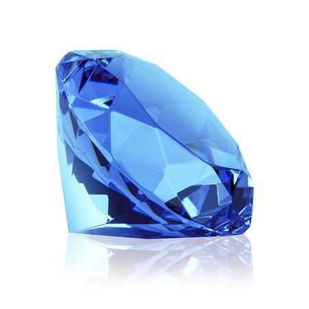 blauwe geïsoleerde diamant