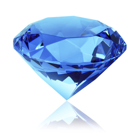 isolated blue diamond Фото со стока - 39036811