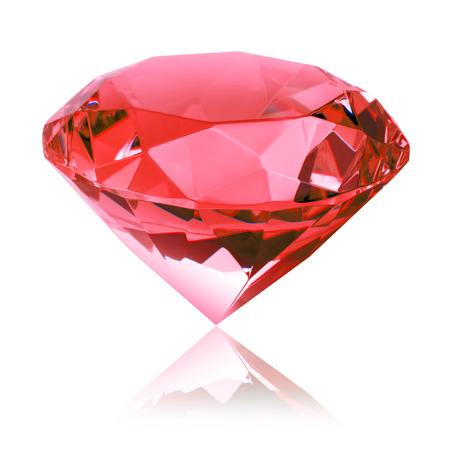 격리 된 빨간색 다이아몬드