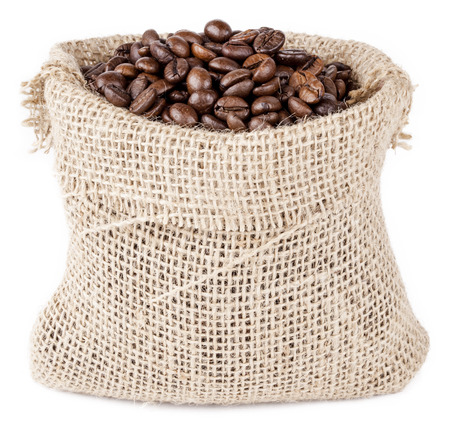 coffee sack: isolated coffee sack