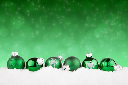 green: christmas background
