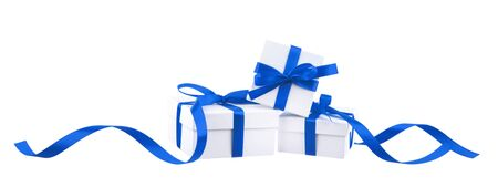 blue silk: isolated gifts Stock Photo