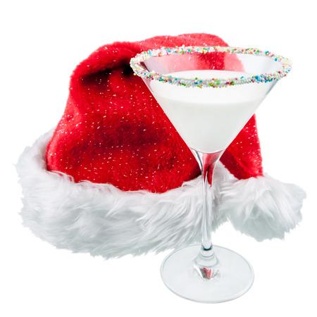 copa martini: cóctel de Navidad