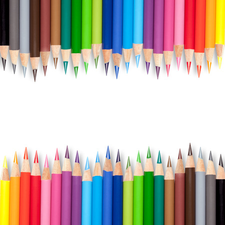 color pattern: colorful crayons