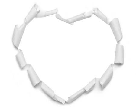 isolated paper: isolated paper heart