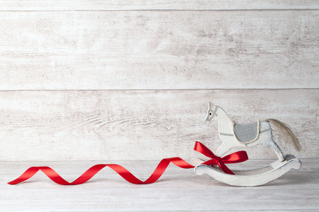 rocking horse background Stock Photo