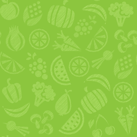 seamless background with fruits and vegetables 免版税图像 - 39050372