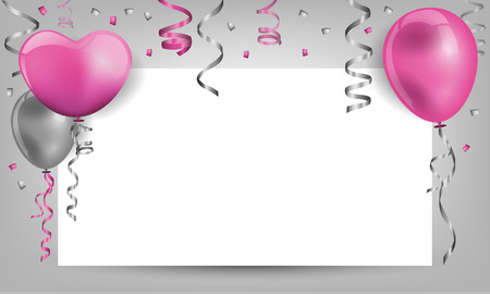 birthday background with balloons Vectores