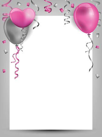 birthday background with balloons Illusztráció