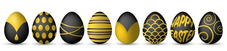 gold eggs: easter eggs black and gold