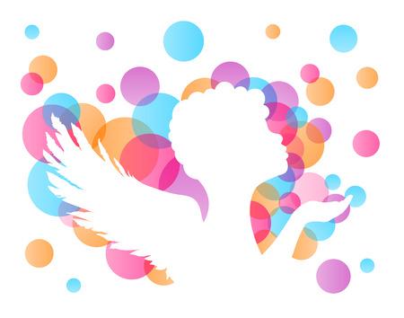 angel: colorful angel