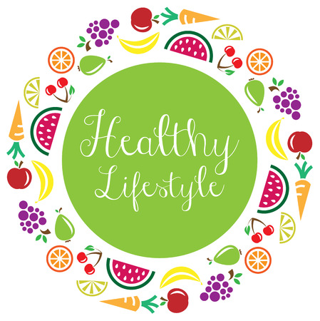 healthy lifestyle fruits icon