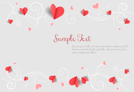 love background with hearts Illustration