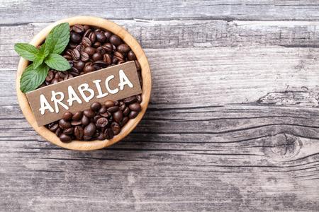 アラビカ コーヒーの背景